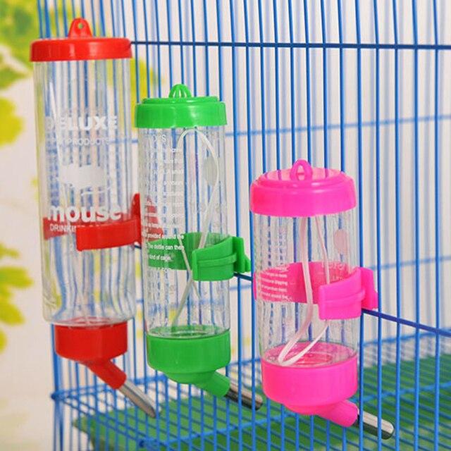 80 мл 150 мл 250 мл продукт ПЭТ пластиковая Питьевая Бутылка Фидер хомяк кролик вода подвесная бутылка распылитель для воды