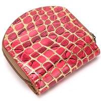 Unisex Leder mode handtasche tags landschaft ziper haspe lange schlüsselbund dokumententasche für dame für dame