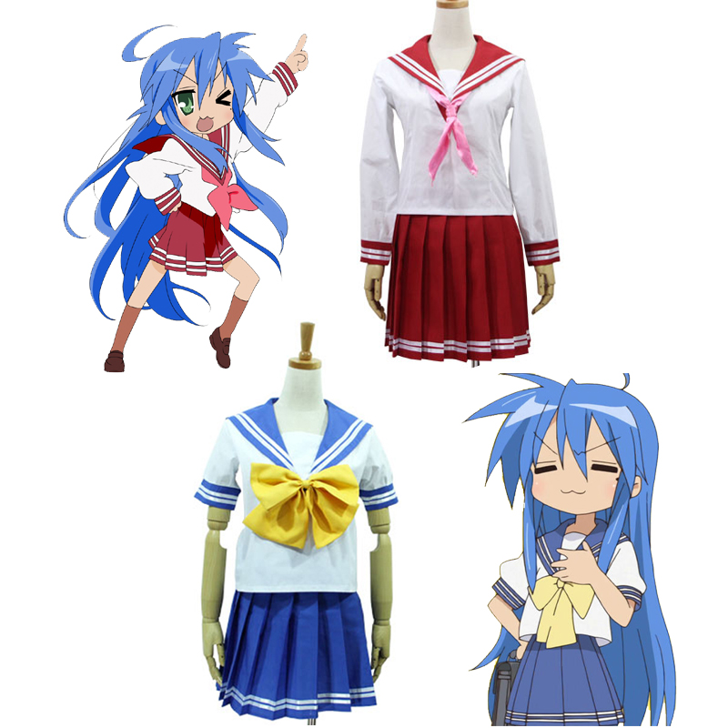 Anime Lucky Star Konata Izumi Hiiragi Kagami Hiiragi Tsukasa Cosplay Costume School Uniform Clothes Women Sailor Suit