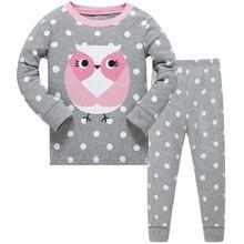 Купить с кэшбэком Baby Girl Clothing Set Children Pajamas Nightwear for 2019 Merry Christmas Clothes Toddler Long Sleeve Homewear Sleepwear