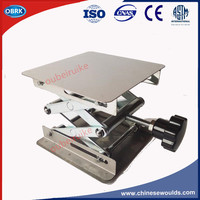 Laboratory Lifting Table Stainless Steel Raising Platform Manual Mini Lift Table