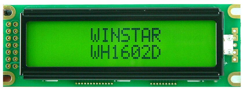 WH1602D WINSTAR 16*2 LCD 5V Modulewhich is built in with ST7066 controller IC or equival screen green backlight new and original favourite 1602 1f