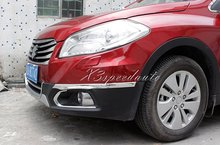 4PCS Chromed SIDE Front + Rear Corner Crash Protect Cover Trim For Suzuki S-Cross SX4 2014