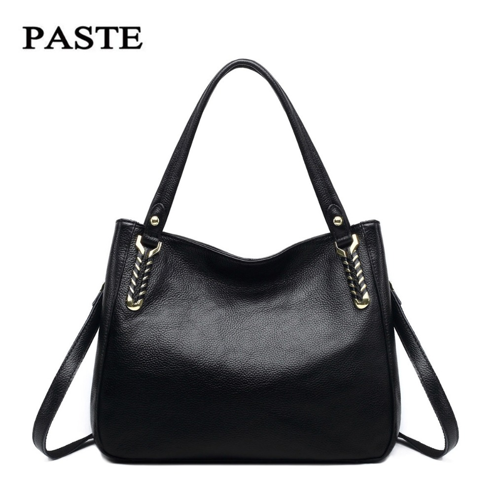 PASTE Handbag Women Brand Clutch Bags Genuine Leather Limited Edition Classic Fashion Shoulder Ladies Messenger Female Gift paste genuine leather brand women clutch bags fashion crocodile pattern envelope shoulder ladies messenger handbag female gift