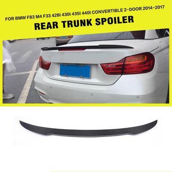 Carbon Fiber Car Rear Trunk Spoiler Boot Lip Wing for BMW 4Series F83 M4 F33 428i 430i 435i 440i Convertible 2-Door 2014 - 2018
