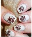 1 hoja de Etiqueta Engomada Del Clavo Flores Diseños de Uñas de Arte Pegatinas de Marca de Agua de Transferencia de Agua Tatuajes de Manicura Láminas Decoración de Uñas Herramientas BLE1834