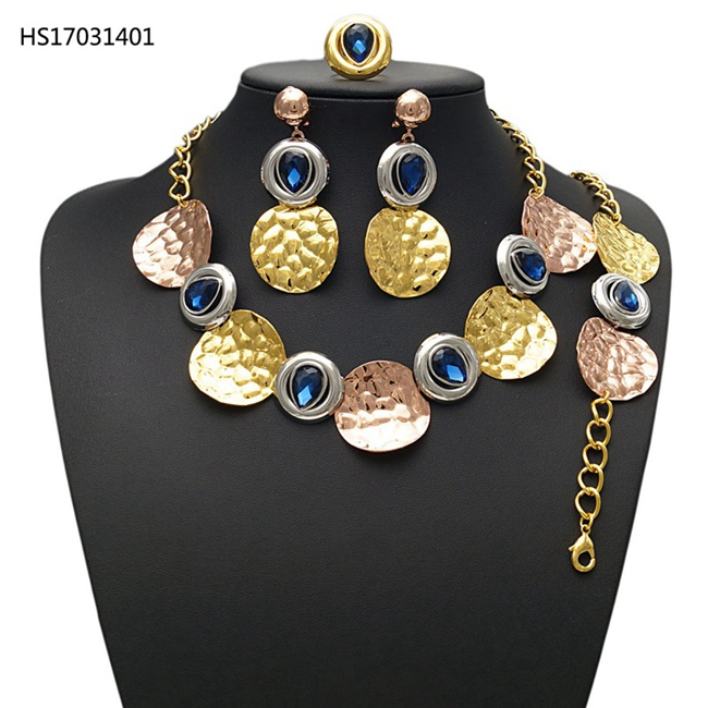 YULAILI New Vintage Jewelry Sets African Bead Statement Necklace Earrings Bracelet Ring Women Wedding Party Accessories недорго, оригинальная цена