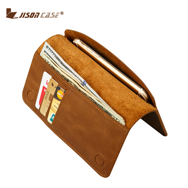 the best attitude 4e316 6cf10 US $16.49 45% OFF|Jisoncase Smartphone Wallet PU Luxury Card Wallet Card  Holder generic for phone 5.5