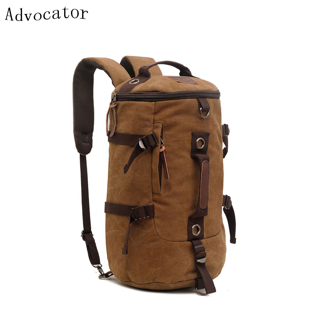 Augur Canvas Shoulder Backpack Single Shoulder Crossbody Bag Leisure Large Capacity MultiFunctional Men's Bag Travel Men Package