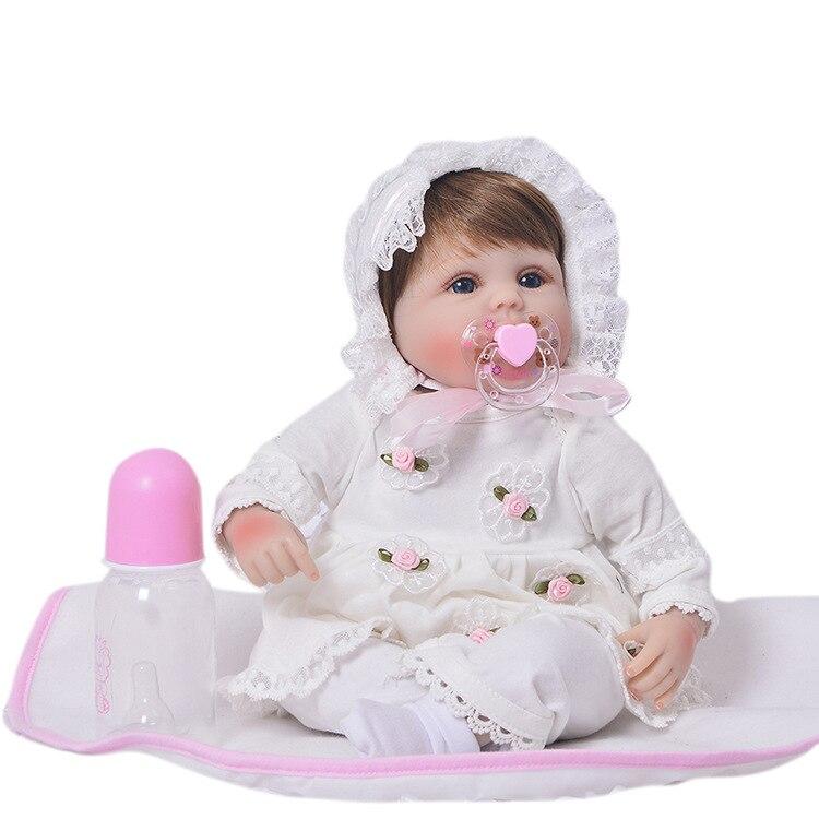 Muñecas renacidas de 18 pulgadas bebés renacidos de silicona bebé muñecas bebé real vivo l. o l sorpresas muñeca juguetes niñas bebe regalo