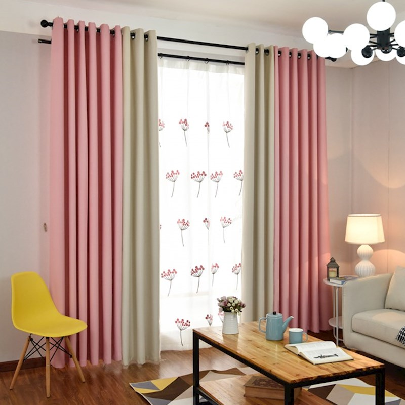 Modern curtains for living room blackout curtains pink - Blue and purple bedroom curtains ...
