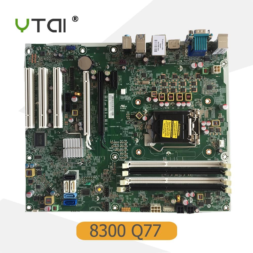 YTAI for HP Elite 8300 MT PC motherboard Q77 DDR3 LGA1155 657096-501 657096-001 656941-001 mainboard