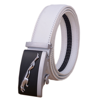 New Arrived Business Fashion Automatic Buckle Men S Belt Luxury Genuine Leather Belt Silver Golden Belts