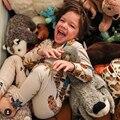 2017 DEL OTOÑO DEL RESORTE NIÑOS jirafa patrón camisetas + pantalones 2 unids conjuntos de ropa de bebé ropa de bebé ropa de niños ropa bebe