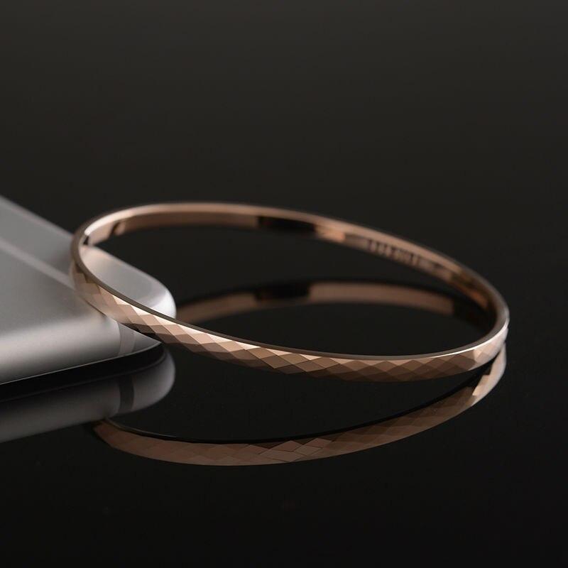Haute qualité belle plaqué or Rose tungstène or Bracelet Bracelet bijoux pour femme/filles/dame boîte-cadeau gratuite - 3