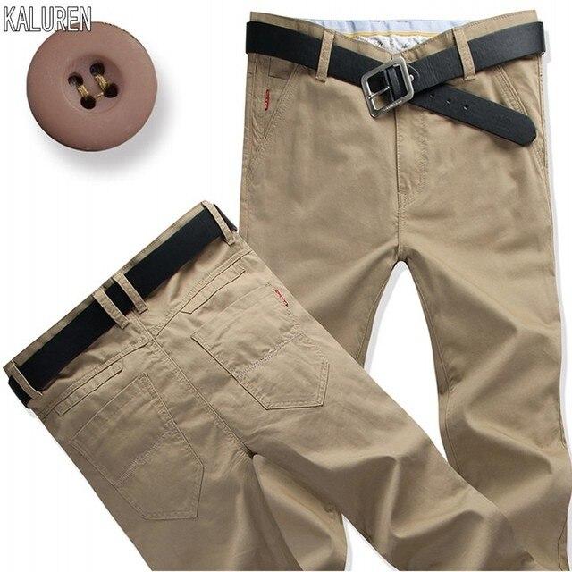 """למעלה משלוח חינם גודל 28 44 מקרית גברים מכנסיים בתוספת ארוך 120 ס""""מ אורך עבור 188 ס""""מ 200 ס""""מ מכנסיים כותנה איש ג ינס ארוך מכנסיים"""