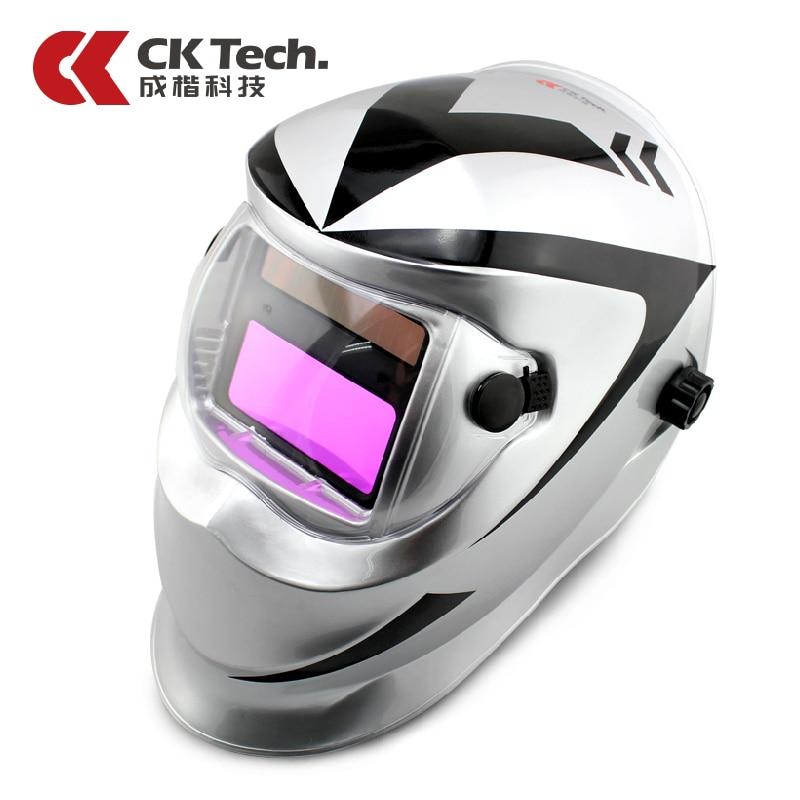 CK Tech Brand Design Welding Helmets Auto-changing Shade Welding Helmet Professional Solar Welding Satey Helmet 3120