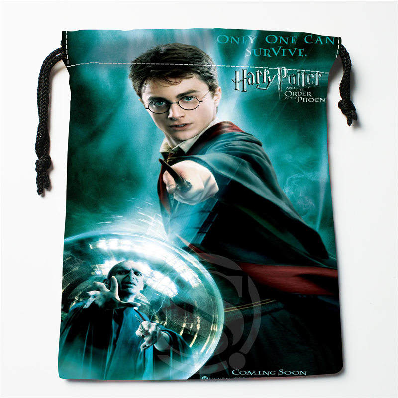 Fl-Q168 New Harry Potter #1 Custom Printed  Receive Bag  Bag Compression Type Drawstring Bags Size 18X22cm 711-#Fl168