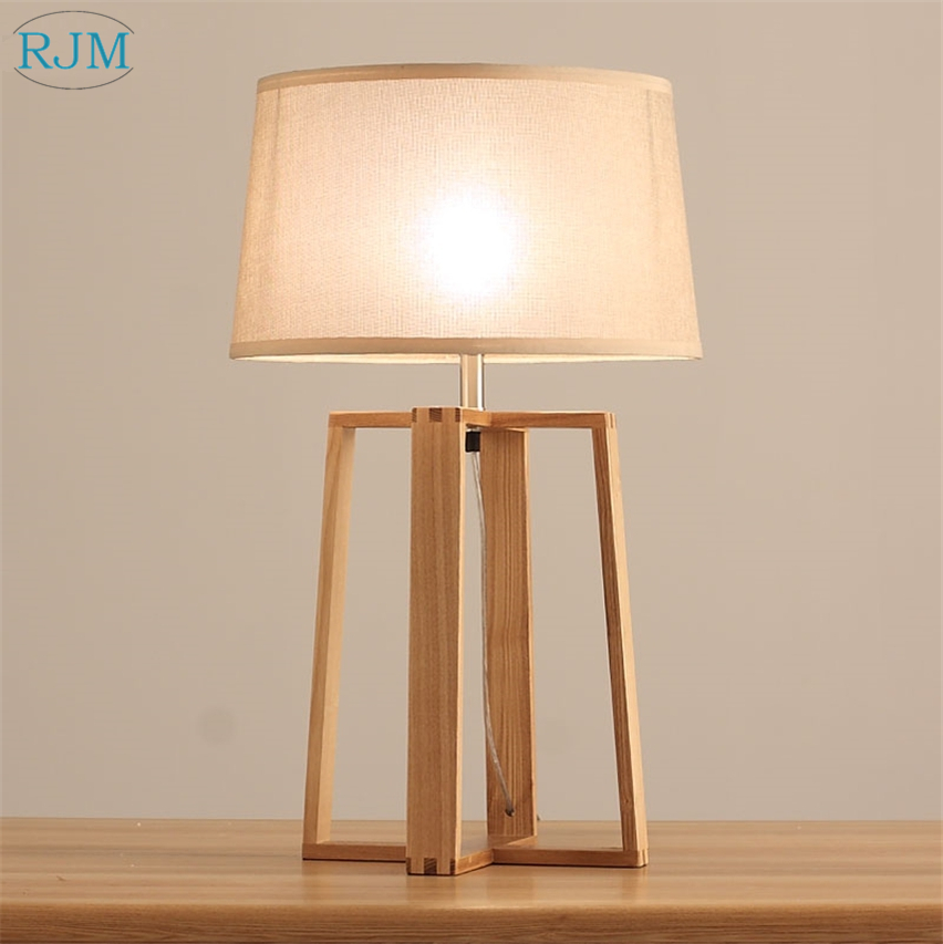 Modern Simple Creative Solid Wood Table Lamps Wooden Desk Lights for Living Room Bedroom Bedside Home Lighting Fixtures DecorModern Simple Creative Solid Wood Table Lamps Wooden Desk Lights for Living Room Bedroom Bedside Home Lighting Fixtures Decor