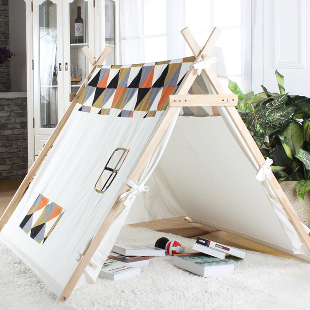 100% cotton canvas tent A-frame tent kids tent play tent & 100% cotton canvas tent A frame tent kids tent play tent-in Toy ...