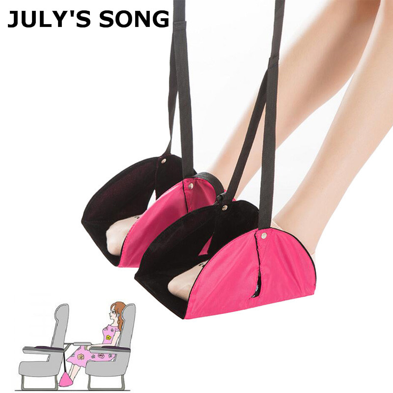 JULY'S SONG Flight Car Travel Essential Aviation Seat Foot Pad Adjustable Foot Rest Feet Hammock Portable Travel Accessories