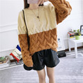 H.SA Women Winter Pullover Jumpers Patchwork Twsited Sweaters Oneck Crop Sweater Pullover Spring Autumn Winter Jumper blusas
