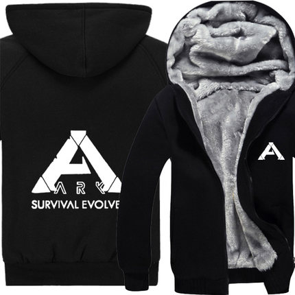 [STOCK]GAME ARK Survival Evolved Fleece Cotton Hoodie Jacket Printed Cloth Cosplay Top H ...