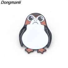 B1924 Dongmanli Porg Enamel Pin Badges Movie Fashion accessories Jewelry for Gift