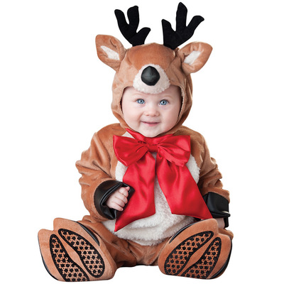 Christmas Deer Breathable Jumpsuit Winter Costume for Baby