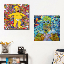 Homer TV Play Cartoon Wallpaper Canvas Posters Prints Wall Art Painting Oil Decorative Picture Bedroom Modern Home Decoration HD