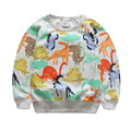 Brand Kids Sweatshirt Toddler Boys Fashion Dinosaur Printed Hoodies High Quality Jogger Sportwear Teens Unisex