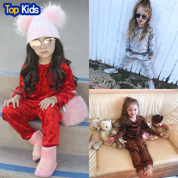 Clothes for Girls Toddler Kids Infant Baby Girls Boys Clothes Long Sleeve Solid Tops+Pants Outfits Set Clothes 6M-4Y MB490 1