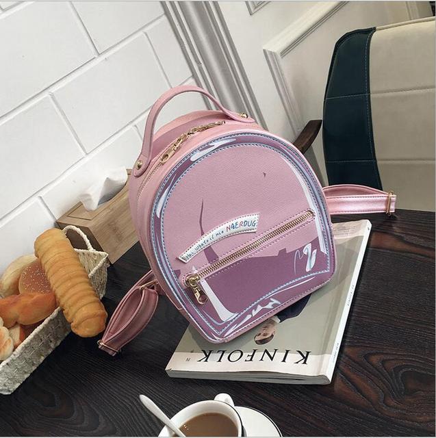 High Quality Sequin Backpacks Women Pu Leather Backpack Student School Bags for Teenage Girls Cute Drawstring bag Mochila Femina