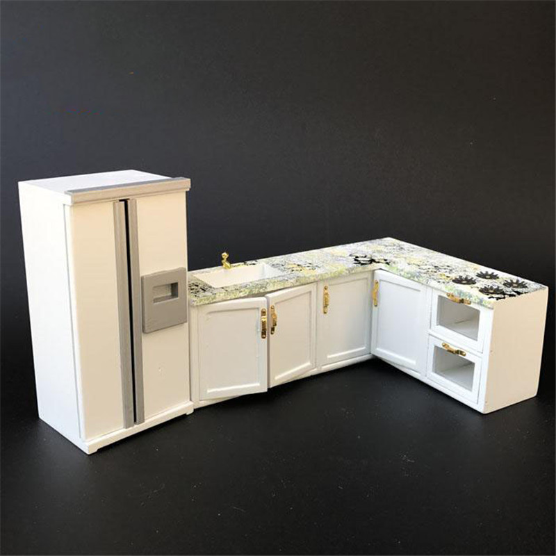 1:12 white <font><b>Miniature</b></font> refrigerator <font><b>Dollhouse</b></font> <font><b>Furniture</b></font> toy for dolls <font><b>kitchen</b></font> sets pretend play toys for girls Christmas gifts image
