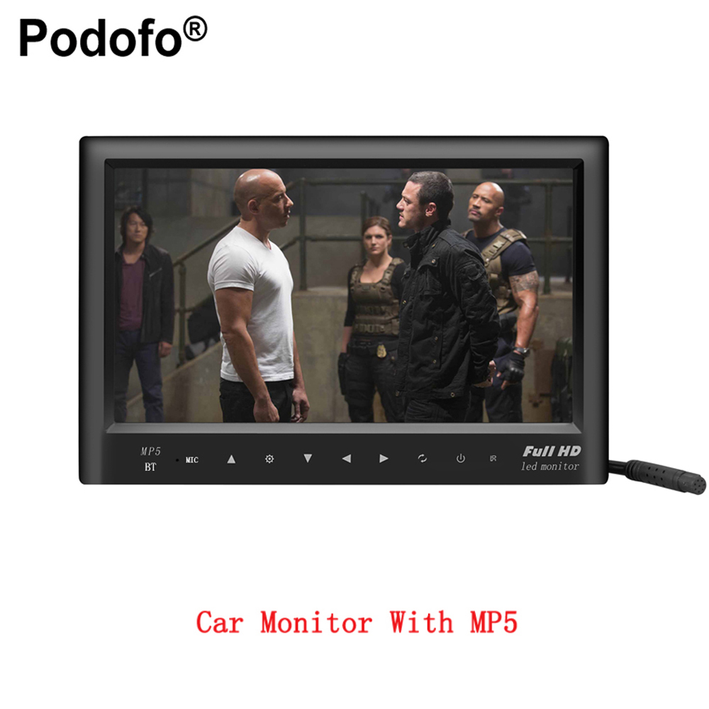 Podofo 7 LCD MP5 Video Player Car RearView Monitor With Rear View CCD Camera With FM transmitter SD USB Flash Built in Speaker