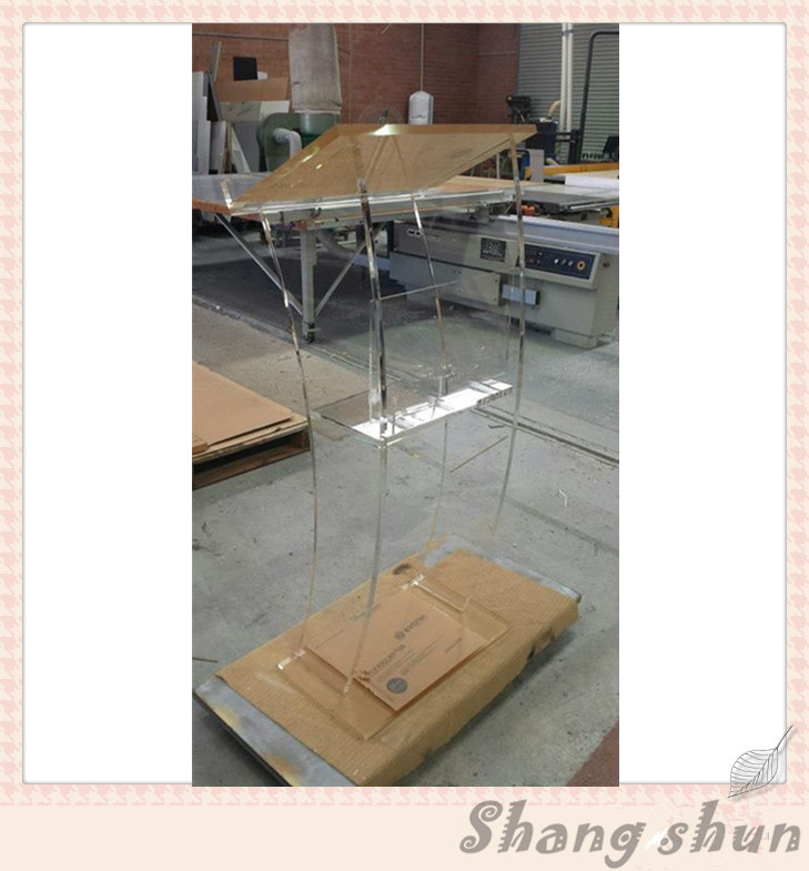 Acrylic Stand Designs : Table top acrylic pulpit stand church speaker