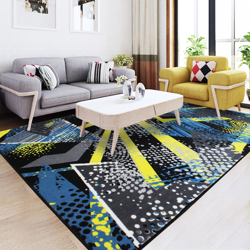 2017 Direct Selling Hot Sale Rugs Stripe Carpets Alfombras Tapis Style Sofa Tea Table Carpet Bedroom Tatami Home Green Blue Mat