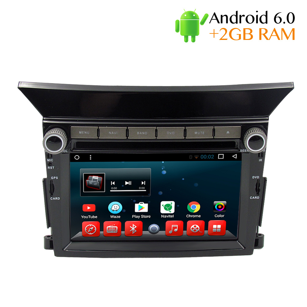 2G ram Android Car DVD Stereo Player GPS Glonass Navigation for Honda Pilot 2009 2010 2011 2012 2013 Auto Radio RDS Audio Video