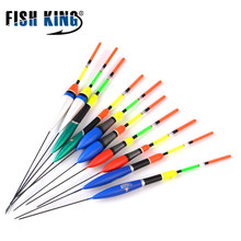 FISH KING 10Pcs/Lot  Fishing Float Bobber Set Combine Dimension Coloration 2g/3g/4g/5g/6g Plastic Vertical Buoy Fishing Deal with Equipment
