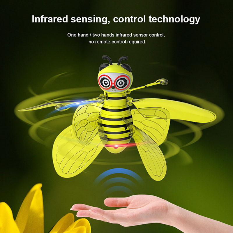 Image 5 - Hot sale mini aircraft small bee induction flight gesture induction drone helicopter infrared induction aircraft new strange toy-in RC Helicopters from Toys & Hobbies