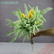 INDIGO Exclusive Sales Nature Flower Bouquet Bride Convallaria Tulip Wedding Arrangement Artificial Event Free Shipping