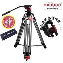 Miliboo mtt602a Портативный алюминиевый штатив для профессиональных видеокамер/видео Камера/DSLR штатив Стенд, жидкости крепления головы