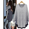 Women T-shirt Long Sleeve Plus Size Clothing Autumn Casual Tops New Arrivals Fashion Solid O-neck Gray Tee Shirt Femme Hot Sale