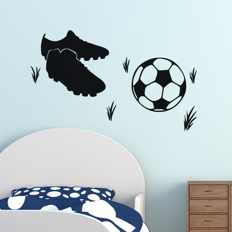 Hot sale DIY football and Soccer shoes Sticker for bed room Wall Sticker Decoration Fluorescent Living Room Home Decoration ...