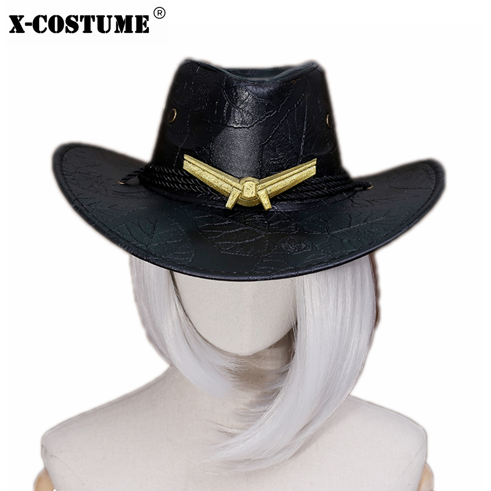 X-COSTUME Hot Game OW Ashe Hat Cosplay Prop High Quality Nylon Brand Sale Cosplay Costume Accessories