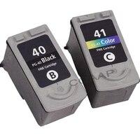 2pcs PG-40 CL-41 PG40 CL41 Ink Cartridge For Canon Pixma MP140 MP150 MP160 MP180 MP190 MP210 MP220 MP450 MP470 printer