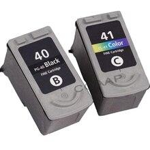 2 шт. PG-40 CL-41 PG40 CL41 чернильный картридж для принтера Canon принтерам Pixma MP140 MP150 MP160 MP180 MP190 MP210 MP220 MP450 MP470 принтер