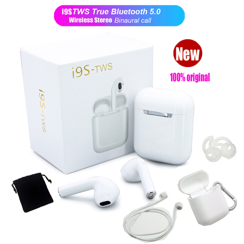 Upgrade I9S <font><b>TWS</b></font> Wireless Earphones Bluetooth 5.0 Earbud 3D Stereo Bass in-ear Headset for iPhone Android PK i10 i11 i12 i13 <font><b>i14</b></font> image
