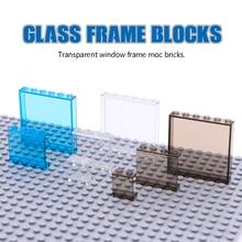 سيتي فريندز مكعبات بناء اطار النافذة لوحة شفافة جدار البيت أجزاء شارع عرض اكسسوارات MOC الطوب ألعاب تعليمية