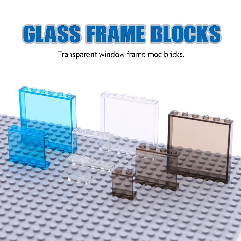 LegoINGlys City Building Blocks Window Frame Transparent Panel Wall House Parts Street View Friends Accessories MOC Bricks Toys